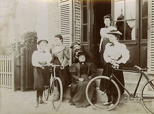 PHOTO ANCIENNE - VINTAGE SNAPSHOT - VÉLO BICYCLETTE MODE BERCK-BIKE FASHION 1897