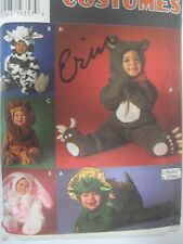 Vtg Simplicity 7317 Cow Lion Bunny Bear Costume Sewing Pattern Toddler Schewe