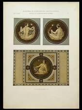 FEMMES STYLE ANTIQUE, ART DECO -1924- LITHOGRAPHIE, MARTIN LEHMANN
