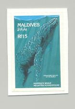 Maldives #1865 Humpback Whale 1v Imperf Proof on Card