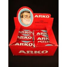 12 x ARKO SHAVING SOAP STICK FULL BOX LUXURIOUS LATHER BARBER SHOP