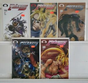 Heirs of Eternity 1 2 3 4 5 Image Complete Set Series Run Lot 1-5 VF/NM