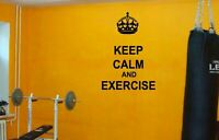 Wall Vinyl Sticker Decals Mural Bedroom Design Keep Calm And Exercise #1196