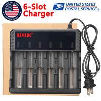 Li-ion Lithium Smart US Charger 6 Slot for 16340/18650/14500/26650 3.7V RCR123