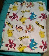 "RARE VINTAGE 1995 1996 1998 Nintendo Pokemon Twin Full Fleece 84""x75"" Blanket"