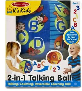 Melissa & Doug 2-in-1 Talking Ball Learning Toy Talking, Counting,Reversible 6m+