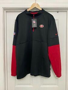 San Francisco 49ers Nike On Field Apparel 1/4 Zip Long Sleeve Dri-Fit Jacket XXL