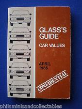 Glass's Guide - Car Values  April 1986