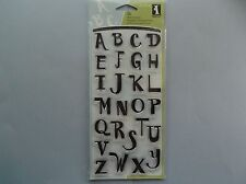 INKADINKADO RUBBER STAMPS CLEAR FUNHOUSE ALPHABET STAMP SET
