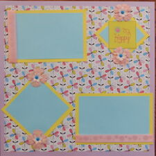 12X12 HAPPY SPRING FLOWERS GIRL PREMADE SCRAPBOOK PAGE LAYOUT MSND TONYA