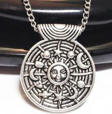"""GALAXY_Small Pendant on 18"""" Chain Necklace_Universe Sun Star Moon Planet_184N"""