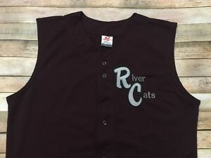 Sacramento River Cats Vintage Jersey RARE Sleeveless Stitched Baseball Large