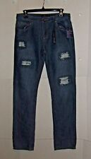 Lucky Brand Billy Straight Destressed Jeans-20-(30X32) NEW with tags-B5-17