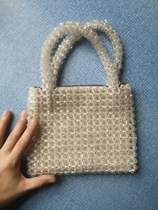Vintage 60s Made In Italy Beaded Crystal Bag Shrimps