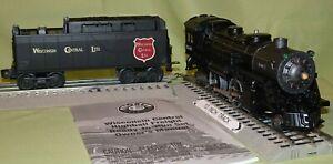 Lionel 38618 Wisconsin Central Die-Cast 4-4-2 Steam Engine w/ Whistle Tndr O/027
