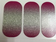 Jamberry- NAIL Wraps-BERRY  SPARKLER- Sparkly OMBRE-HALF SHEET- Fast!!!