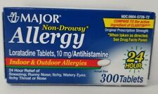 Major Allergy Loratadine 10mg Tablets, 300ct -Expiration Date 05-2021