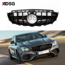 With Camera For Mercedes Benz W213 E Class AMG Design Black Front Grill 2017