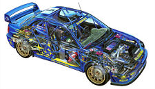 Subaru Impreza WRC Rally Cutout ONE PIECE NOT SECTIONS Over 1 Meter Wide Poster!