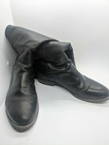 """Matisse """"Yorker"""" Brazil Leather Knee High Blacl Riding Boots Size 8"""