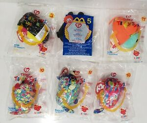 2019 TY TEENIE TEENY TYS Set of 5 + Vintage 2000 #5 Lucky Ladybug Happy Meal Toy
