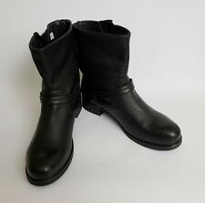 La Canadienne Short Boots Black Mid-Calf Shoes Pull On Canada Womens Size 8.5