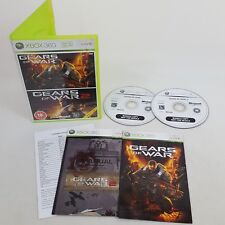 Gears Of War 1 & 2 Double Pack Xbox 360 PAL Complete With Manual 2008 Microsoft