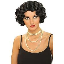 Burlesque Wig Black Short Flapper Women's Costume Accessory Wavy Curly 20's Lady