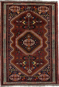 Tribal Design Vintage Small 3'5X5'3 Hand-Knotted Area Rug Oriental Decor Carpet