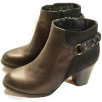 """New Directions Womens Berta Ankle Boots Size 9 Black 3"""" Heel Faux Leather"""