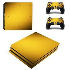 Golden Carbon Fiber PS4 Pro Consoles Controllers Vinyl Skin Decals Sticker Cover