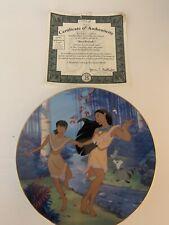 "The Bradford Exchange Disney Pocahontas ""Best Friends� Plate Ten Free Shipping!"