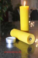 2 x Bienenwachskerzen XXL 100 % Bienenwachs Kerzen 210 x 56mm Handarbeit aus D