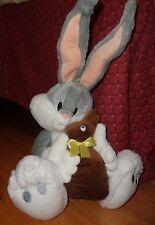 "Bugs Bunny Plush holding Brown Easter Bunny 14"" Stuffed Warner Brothers"
