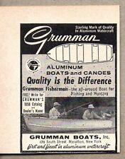 1958 Print Ad Grumman Aluminum Boats & Canoes Made in Marathon,NY