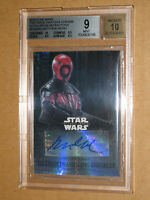 ✨ BGS 9 STAR WARS FORCE AWAKENS CHROME MATTHEW WOOD GUAVIAN PRISM AUTO AUTOGRAPH