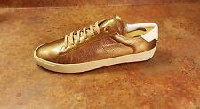 YSL Saint Laurent SL/06 Metallic Gold Low Top Sneakers Men 8 US 41 Eur MSRP $545