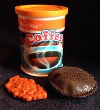 VTG FISHER PRICE COFFEE CAN LID POD BEANS For FP Coffee Maker Pretend Play Food