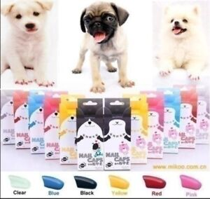 Soft Dog Nail Caps Rubber Protect Furniture & Floors Scratching