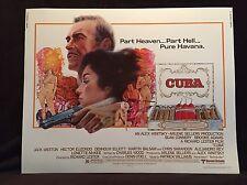 Original 1979 CUBA Half Sheet Movie Poster 22 x 28 Sean Connery / Havana Cigars