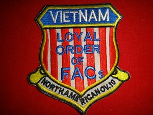 "Vietnam War Patch LOYAL ORDER OF FACs NORTH AMERICAN OV-10 ""BRONCO"""
