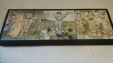 3 Tiles in Frame , Walter Crane Nursery Rhyme , poss Minton ?