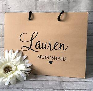 Personalised Bridal Party Gift Bags, Bridesmaid Gift Bag, Wedding Gift Bag