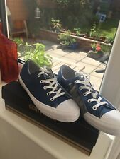 Navy Blue Converse Womens Padded Gemma OX Canvas Lo Top Size 4.5 New Boxed