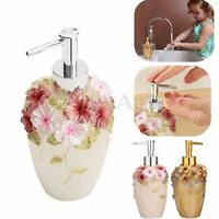 Resin Soap Shampoo Dispenser Kitchen Bathroom Liquid Lotion Pump Action Bottle