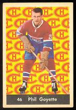 1961 62 PARKHURST HOCKEY #46 PHIL GOYETTE EX+ MONTREAL CANADIENS CARD
