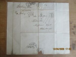 GB 1829 ENTIRE 1/2d BOXED CACHET FE.21.1829