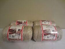 Lot of 4 Rolls of Pearl Beige 6mm Bonnie Braid Braided Macrame Craft Cord 400yds
