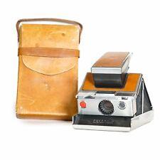 *RARE* Original 1973 Silver/Tan Polaroid SX-70 Instant Land Camera with Case