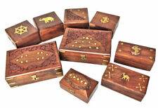 Wooden Jewellery Box Carved Indian Christmas Wedding Storage Small Medium Large